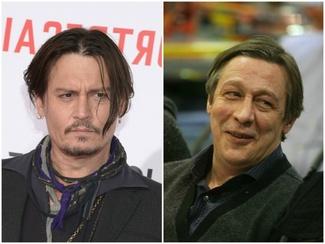 Johnny Depp y Mikhail Efremov51