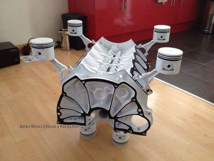 Original mobiliario fabricado con partes de coches for Decoraciones para piezas