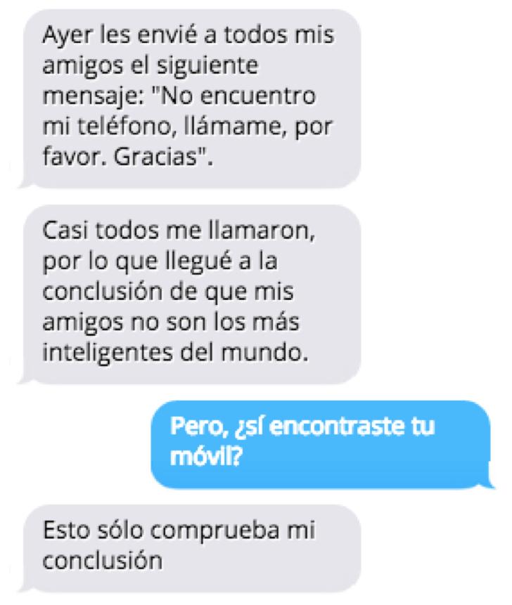 Mensajes de texto que son para morirse de risa.