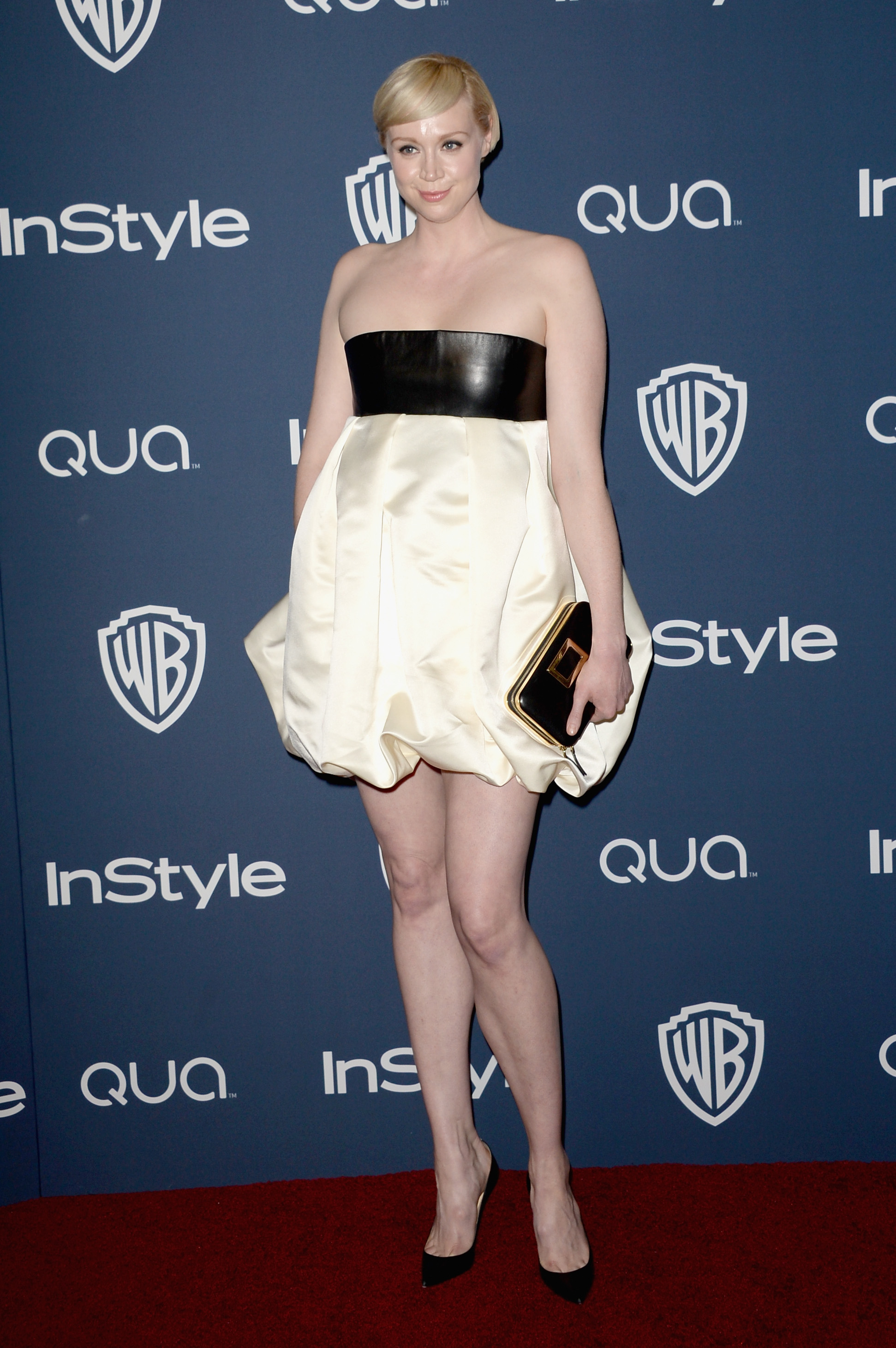 BEVERLY HILLS, CA - JANUARY 12: Actress Gwendoline Christie attend the 2014 InStyle and Warner Bros. 71st Annual Golden Globe Awards Post-Party on January 12, 2014 in Beverly Hills, California. (Photo by Jason Merritt/Getty Images)