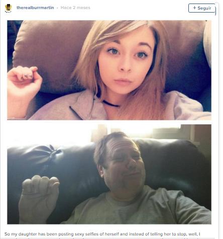 El padre ha ayudado a la joven hija