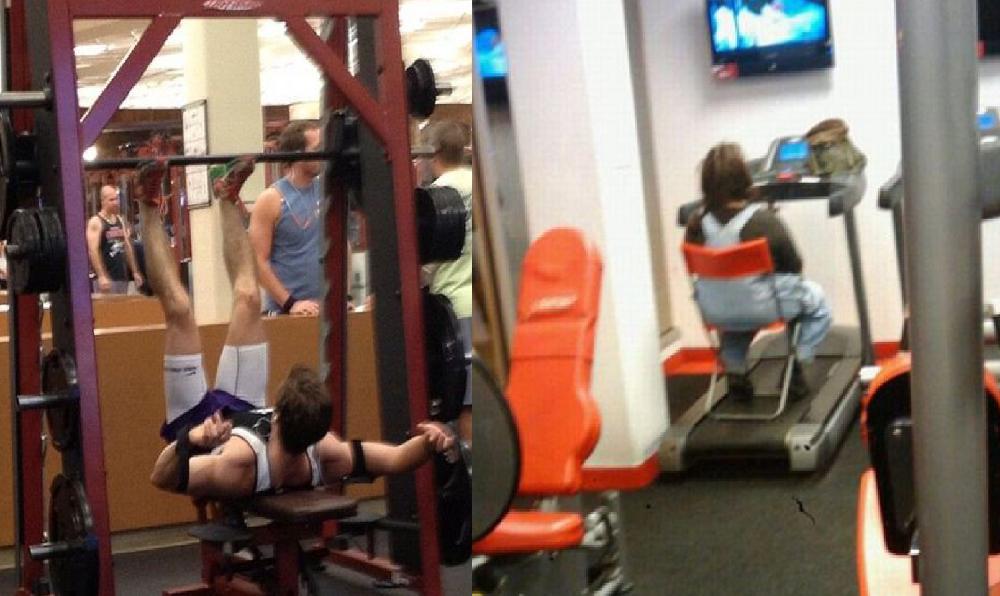 TOP Cosas raras que se ven dentro de los gimnasios ¿Qué hacen? xDD - CABROWORLD
