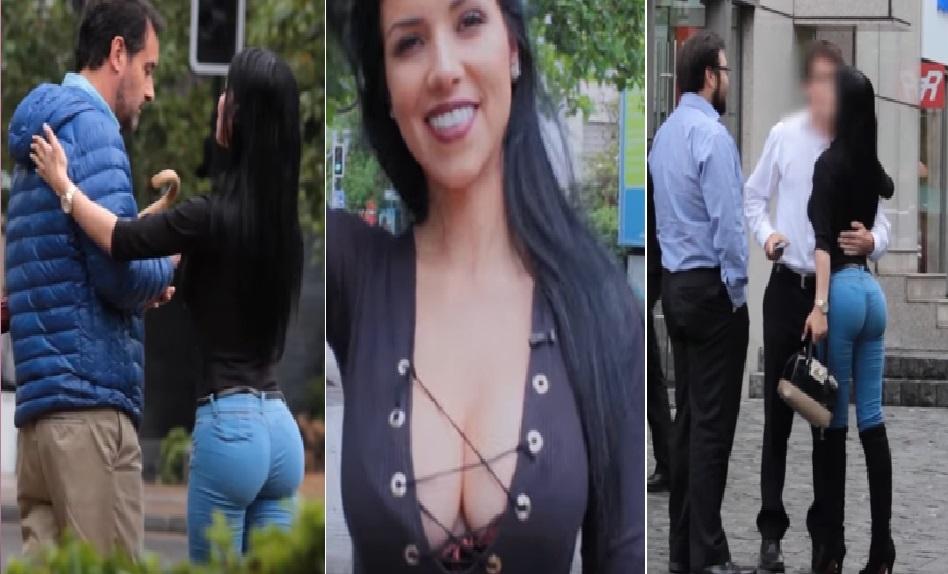 Mira cómo esta CHICA es capaz de conseguir DINERO DE HOMBRES por la calle así de rápido y fácil - CABROWORLD