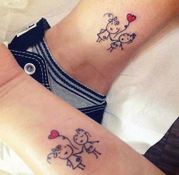 TOP 21 Geniales tatuajes para hacerse entre hermanos