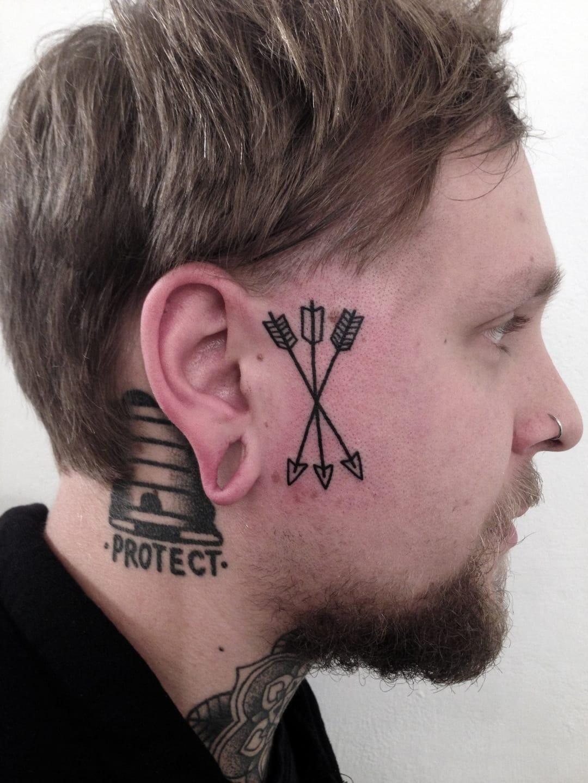 Side Of Face Tattoos: 19 Increíbles Ideas De Tatuajes Que Te Podrías Hacer En La