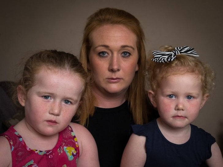 """Laura Haslam with daughters Brooke (left) and Eva. Mum Laura was outraged when she found out Google Street View had published images of the children playing naked in their garden. See Ross Parry story RPYMAPS; A disgruntled mum was left shocked after discovery her two young children were found NAKED playing in a paddling pool on Google Street View. Laura Haslam, 27, was outraged after finding out daughters Brooke, four, and Eva, three, were snapped by internet giant Google Maps outside their fenced-off home. While the faces of the youngsters were blurred, their naked bodies could clearly be seen using the website's 'street view' option as users trawl along the street. Laura, 27, of Poulton Le Fylde, Lancs., said: """"I feel scared because I don't know how many people have seen it."""