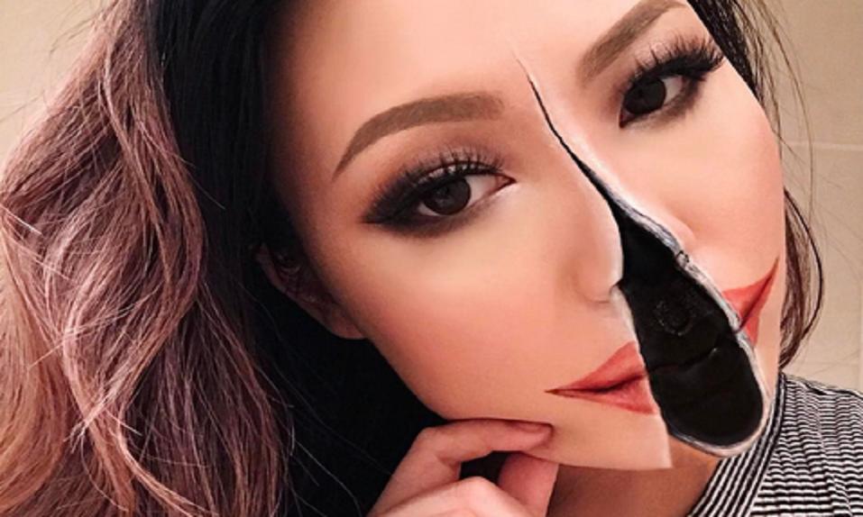 Esta chica crea ATERRADORAS ilusiones ópticas a través del maquillaje - CABROWORLD