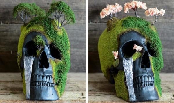 """Estas son las tétricas esculturas de cráneos de """"JACK OF THE DUST"""" - CABROWORLD"""