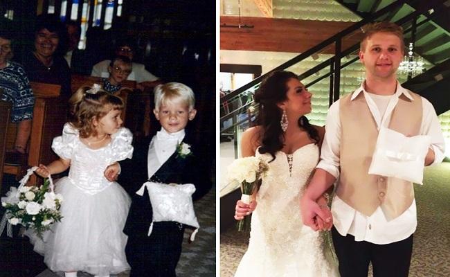 ¡Mismas fotos y mismas parejas varios AÑOS después! ¡Qué cambio! - CABROWORLD