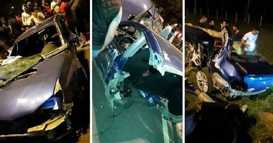 Terrible accidente con un Subaru que acaba partido en dos y milagrosamente sale ileso - CABROWORLD