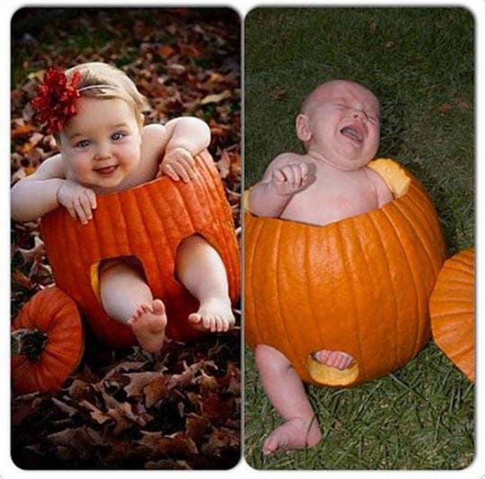 Expectativa vs realidad en fotos de niños pequeños10