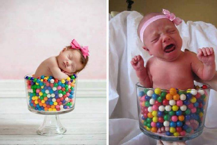 Expectativa vs realidad en fotos de niños pequeños3