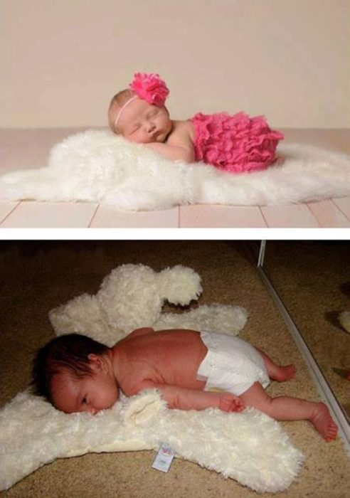 Expectativa vs realidad en fotos de niños pequeños7