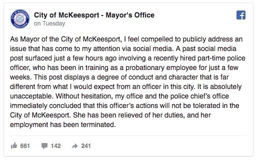 Policía es despedida tras una publicación d Snapchat racista