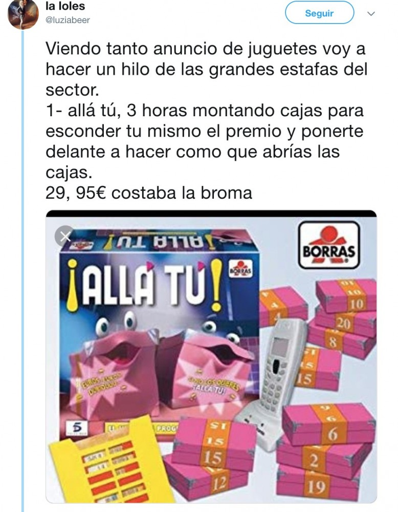 Juguetes Fueron Los Estos Tachados Has Y Tú De Estafa Seguramente kiOXPZuwT