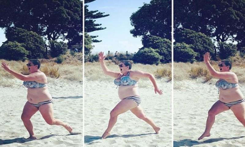 f055812c3ebf Un hombre se burló de ella por llevar bikini, y en lugar de ...