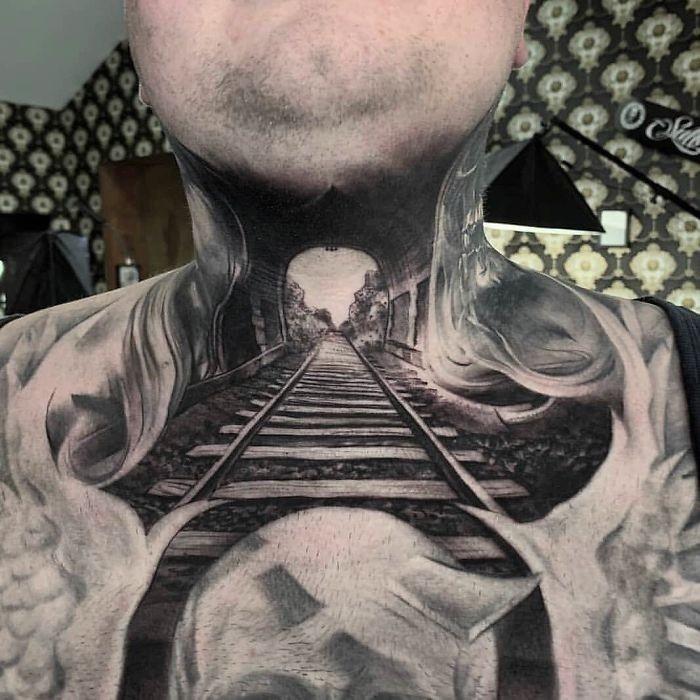 Optische Täuschung Tattoo